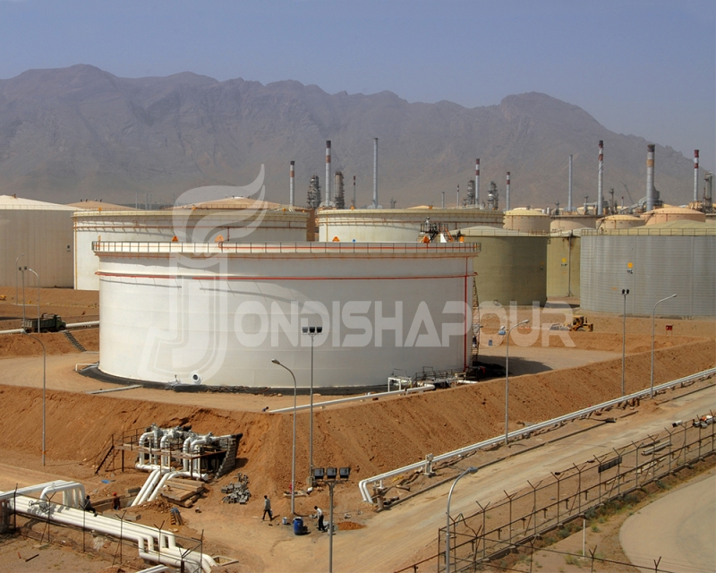 Storage tanks Construction Project in Isfahan & Mashad (EPC)